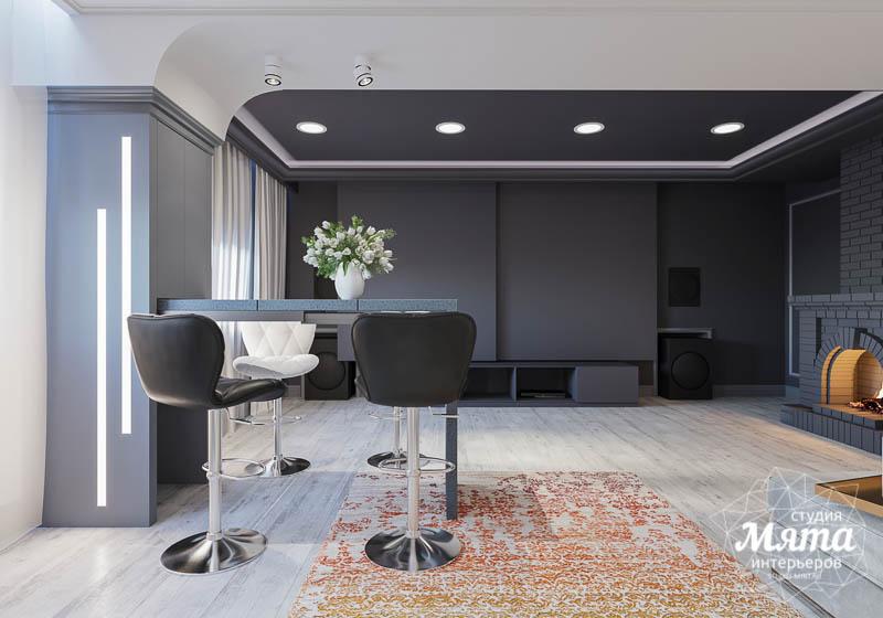 Дизайн интерьера домашнего кинотеатра в коттедже п. Кашино img877532906