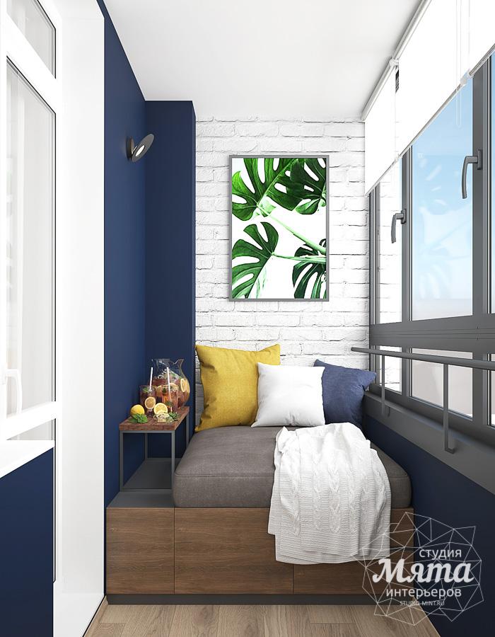 Остекление балкона с дизайном
