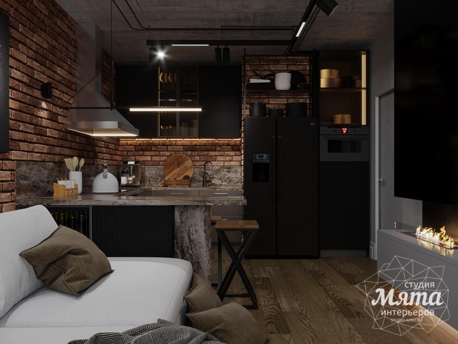 Дизайн интерьера квартиры в стиле лофт ЖК Солнечный Остров img1424976611