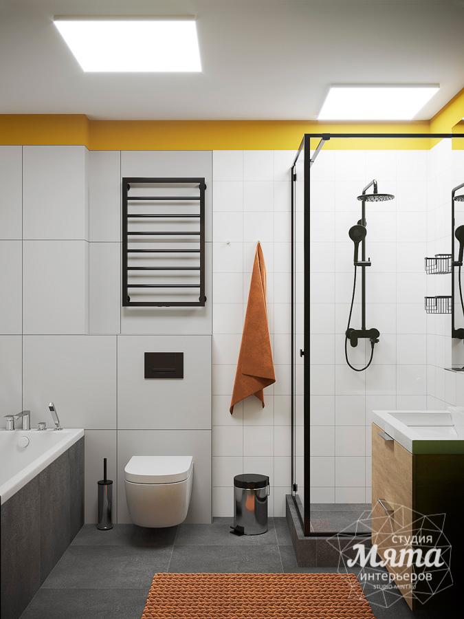 дизайн ванной комнаты с душевой кабиной из плитки