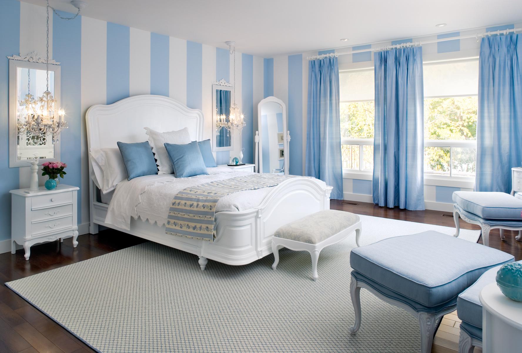 такое спальня в голубых тонах картинки хитрость