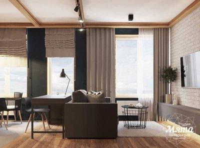 Дизайн интерьера квартиры - студии в ЖК Солнечный img2131679949