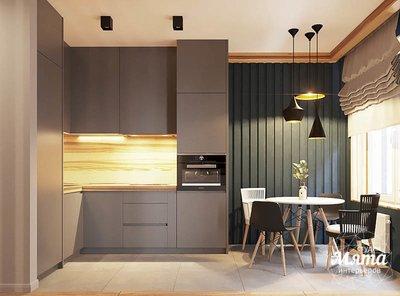Дизайн интерьера квартиры - студии в ЖК Солнечный img1804343881