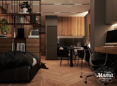 Дизайн интерьера квартиры - студии в ЖК Гринвуд img1389512091