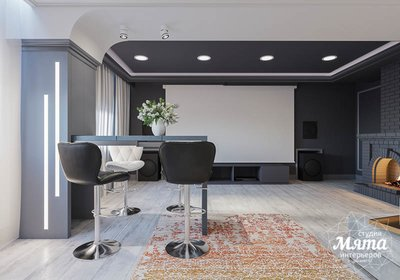 Дизайн интерьера домашнего кинотеатра в коттедже п. Кашино img2064401589