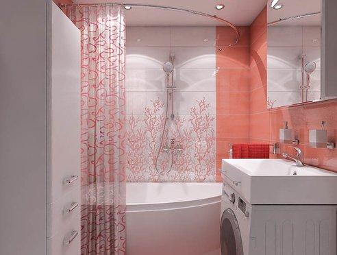 Дизайн интерьера ванной комнаты по ул. Калинина 77