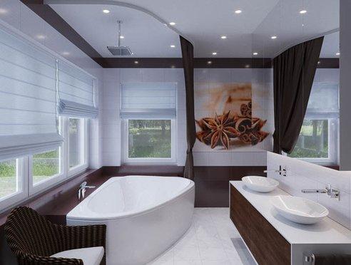 Дизайн интерьера ванных комнат для коттеджа в г. Салехард