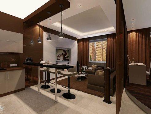 Дизайн интерьера однокомнатной квартиры по ул. Громова 30