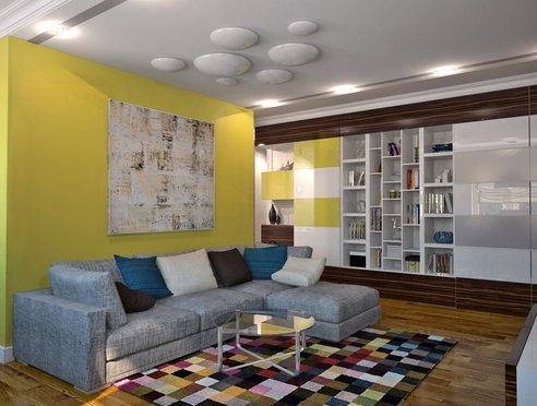 интерьер гостиной, дизайн квартиры, дизайн-проект, современный стиль, хай -тек, дизайн интерьера, минимализм, интерьер картиры
