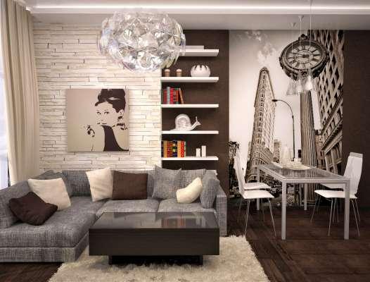 Дизайн интерьера трехкомнатной квартиры по ул. Папанина 18