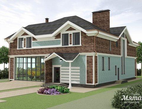 Дизайн фасада коттеджа в п. Палникс