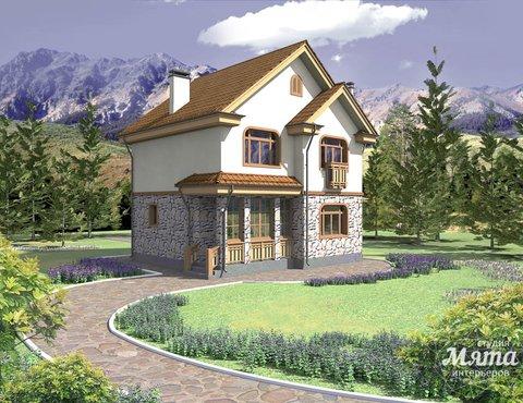 Дизайн фасада частного дома 100м2 в Щелкун