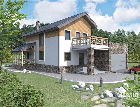 Дизайн фасада коттеджа 205м2 в г. Нижневартовск