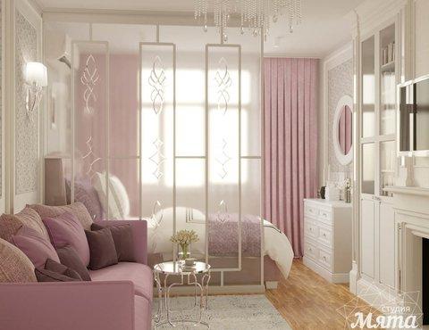 Дизайн интерьера однокомнатной квартиры в ЖК Солнечный Остров