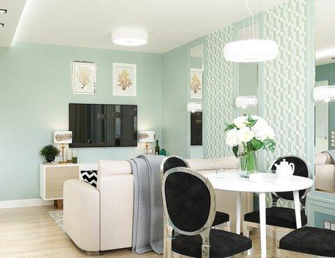 Дизайн интерьера однокомнатной квартиры пер. Встречный д. 5