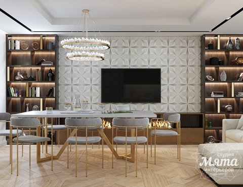 Дизайн интерьера трехкомнатной квартиры в современном стиле, ул. Репина 17а