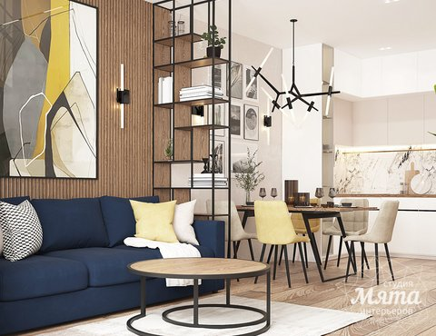 Дизайн интерьера трехкомнатной квартиры в ЖК Клевер Парк