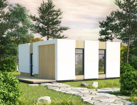 Дизайн фасада модульного дома в п. Новое Созвездие