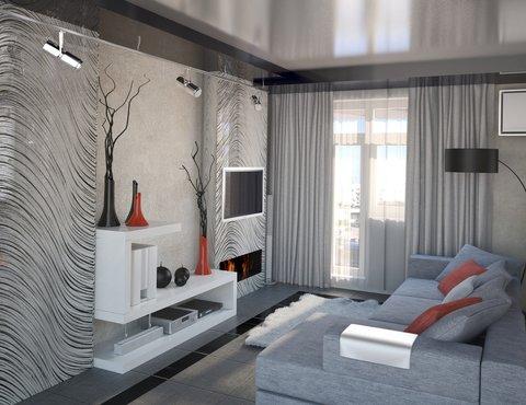 Дизайн интерьера однокомнатной квартиры по ул. Крауля 56