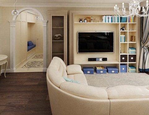 Дизайн интерьера однокомнатной квартиры по ул. Юмашева 10