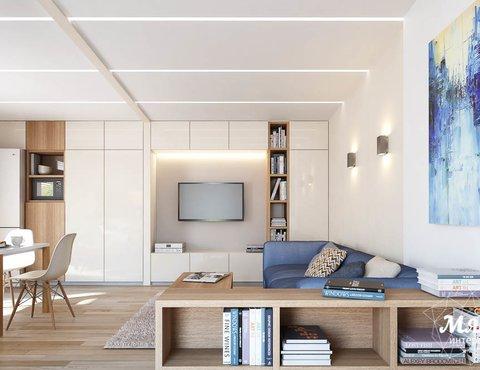 Дизайн интерьера модульного дома в п. Новое Созвездие