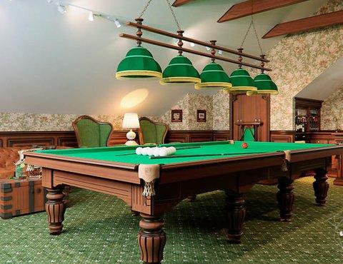 Дизайн интерьера бильярдной в п. Палникс