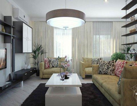 Дизайн интерьера трехкомнатной квартиры Шейнкмана 121