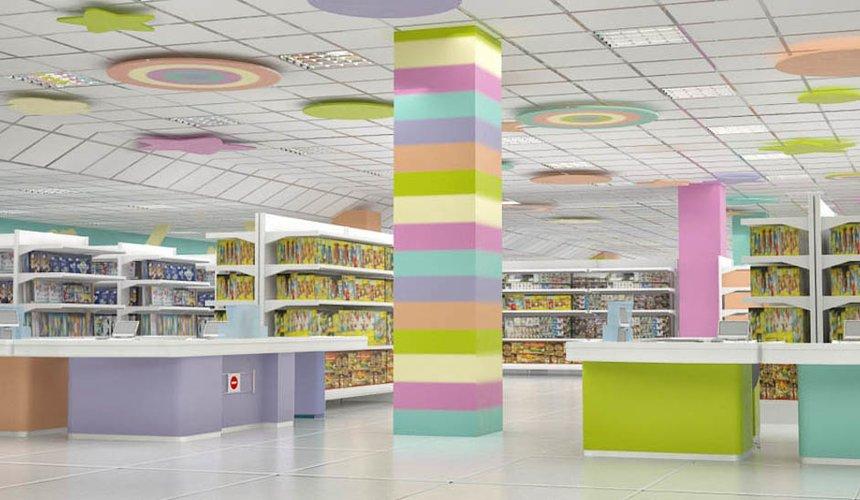 Дизайн интерьера и ремонт детского гипермаркета по ул. Щербакова 4 39