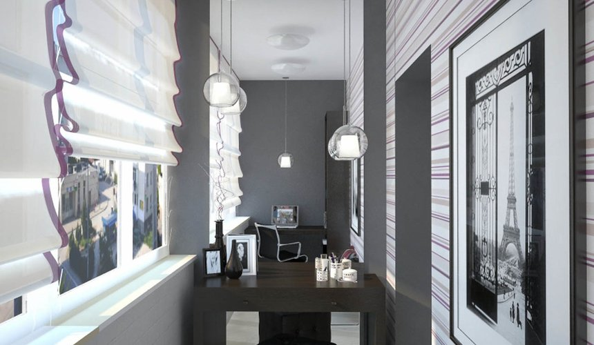 Дизайн интерьера и ремонт трехкомнатной квартиры по ул. Попова 33а 65