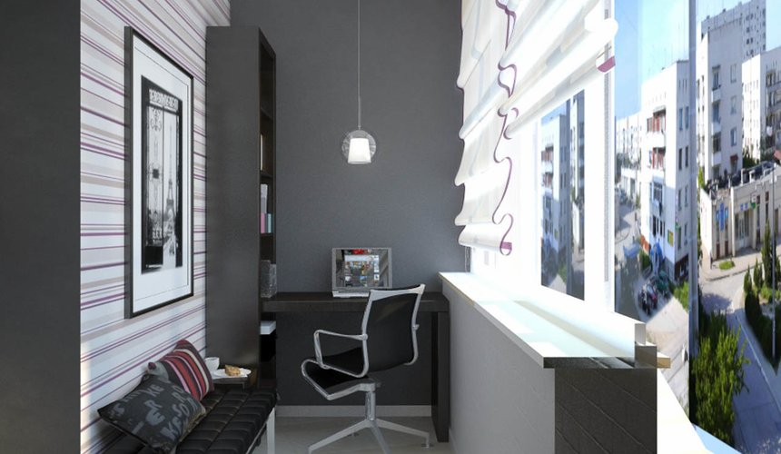 Дизайн интерьера и ремонт трехкомнатной квартиры по ул. Попова 33а 29