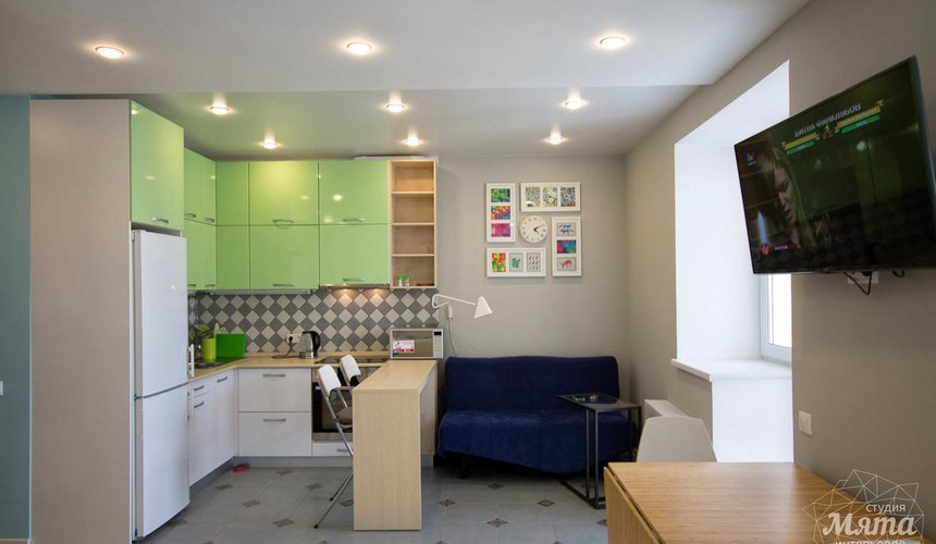 Дизайн интерьера и ремонт однокомнатной квартиры по ул. Сурикова 53а 4