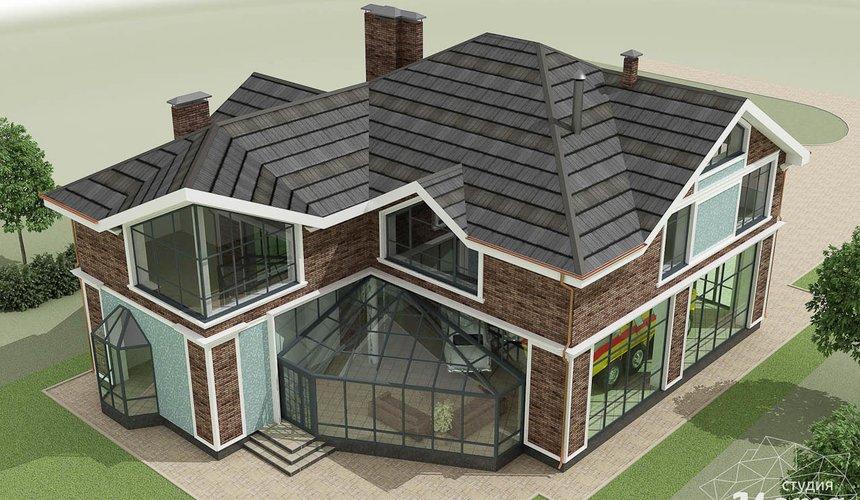 Дизайн фасада коттеджа в п. Палникс 7
