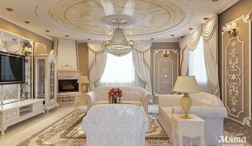 Дизайн интерьера коттеджа классическом стиле в Карасьозерске 12