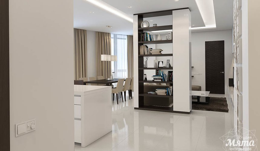 Дизайн интерьера трехкомнатной квартиры по ул. Белинского 86 14