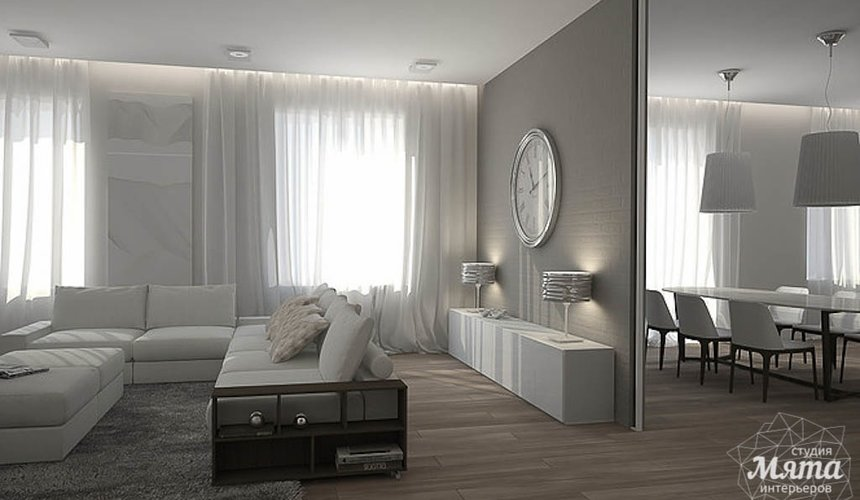 Дизайн интерьера трехкомнатной квартиры в Антаресе 2 5