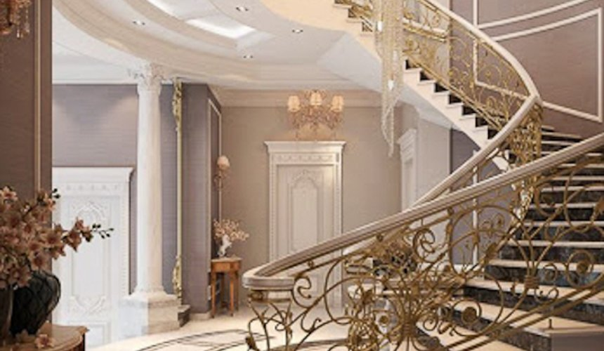 Дизайн интерьера коттеджа классическом стиле в Карасьозерске 4