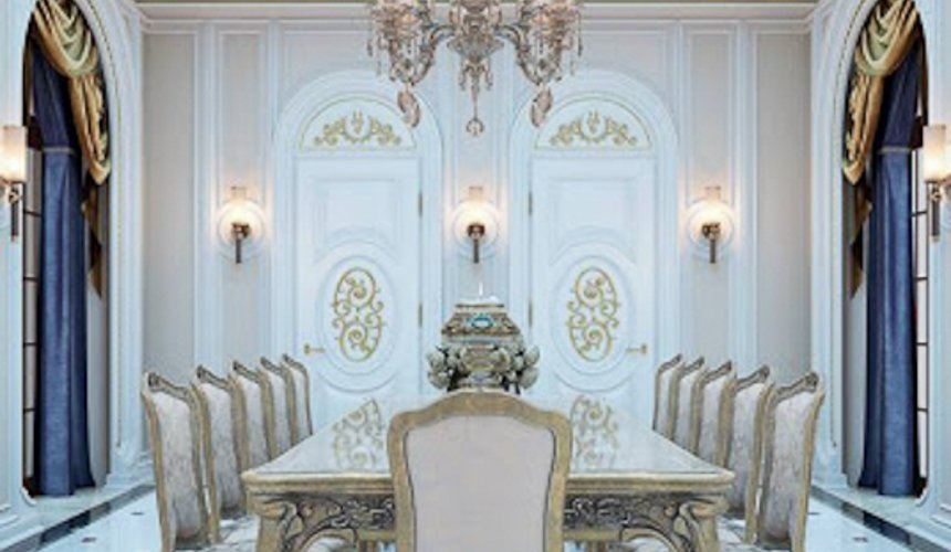 Дизайн интерьера коттеджа классическом стиле в Карасьозерске 7