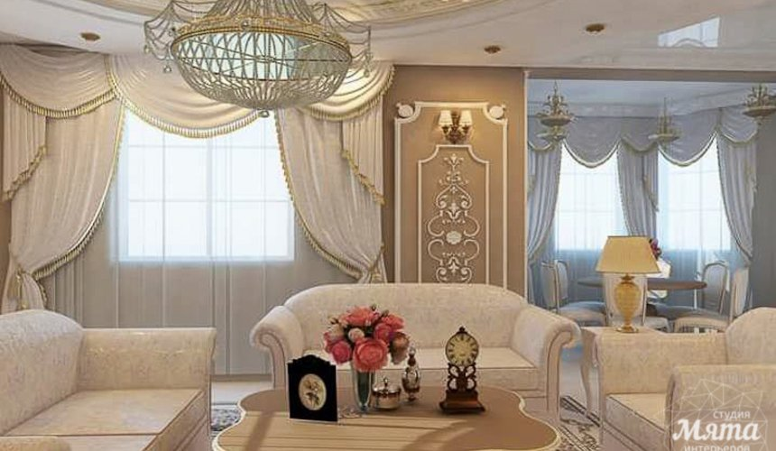 Дизайн интерьера коттеджа классическом стиле в Карасьозерске 10