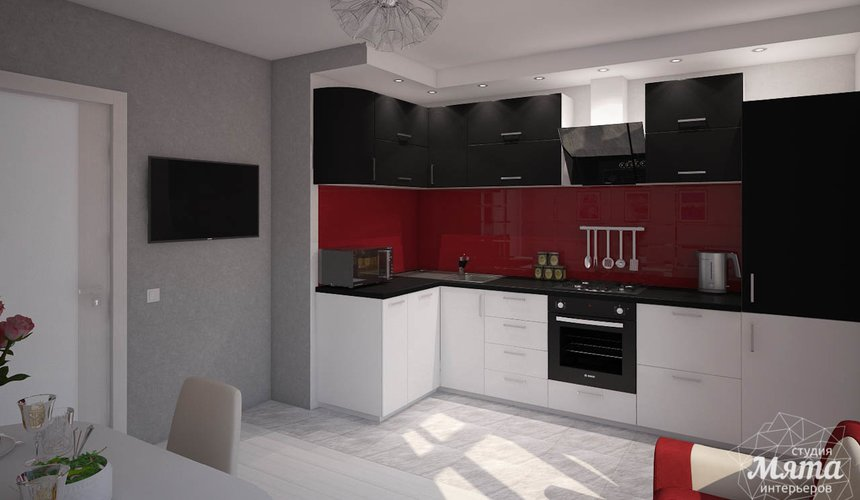 Дизайн интерьера  и ремонт трехкомнатной квартиры по ул. Машинная 44 46