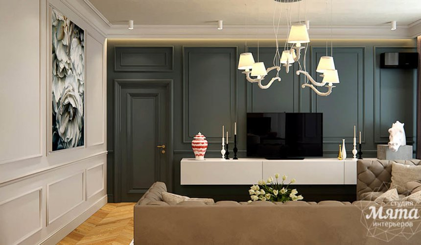Дизайн интерьера четырехкомнатной квартиры в Новосибирске 3