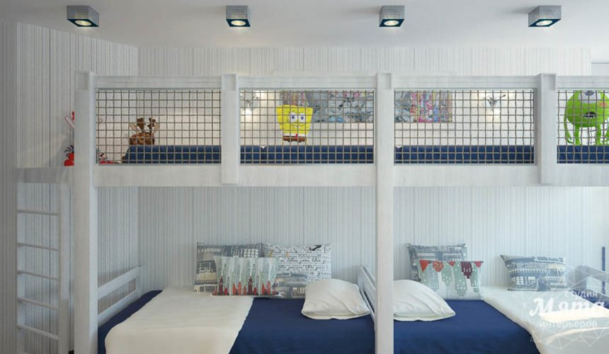 Дизайн интерьера трехкомнатной квартиры Шейнкмана 121 32