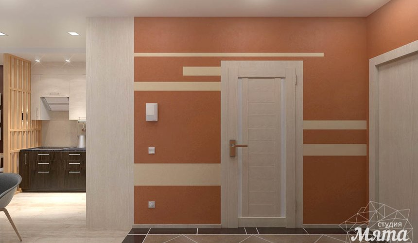 Дизайн интерьера однокомнатной квартиры в ЖК Крылов 20