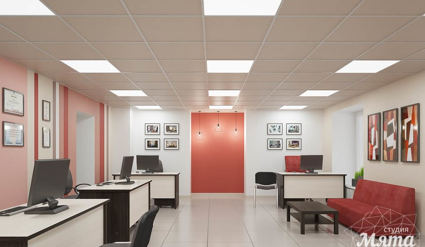 Дизайн интерьера и ремонт офиса по ул. Шаумяна 93 27