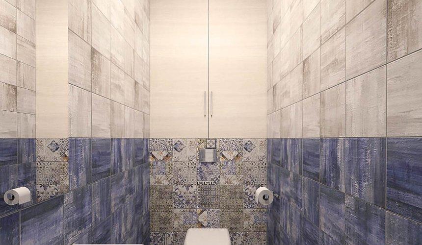 Дизайн интерьера ванной комнаты и санузла по ул. Трактористов 4 5