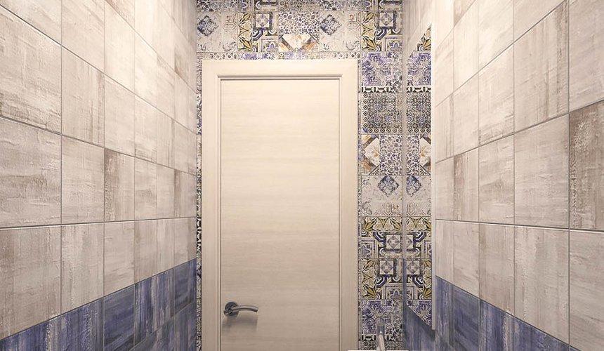 Дизайн интерьера ванной комнаты и санузла по ул. Трактористов 4 6
