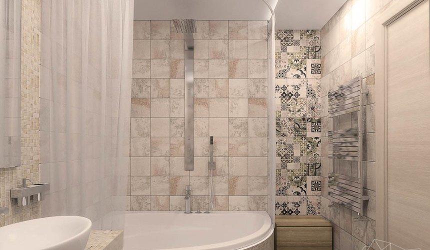 Дизайн интерьера ванной комнаты и санузла по ул. Трактористов 4 4
