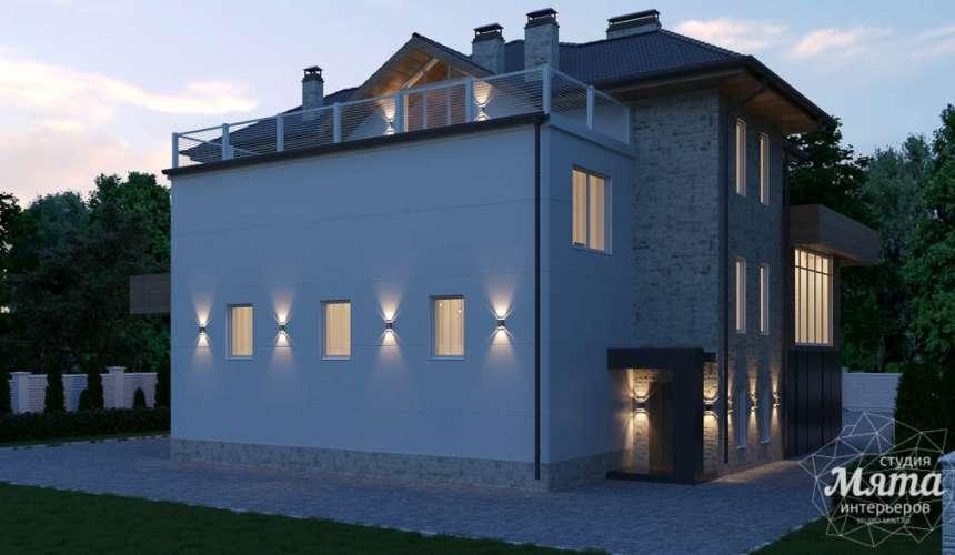 Дизайн фасада коттеджа в Шайдурово 3