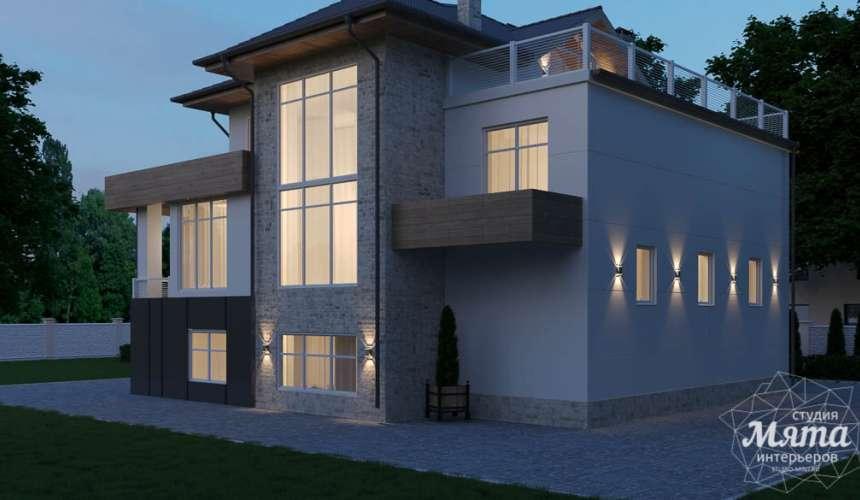 Дизайн фасада коттеджа в Шайдурово 4