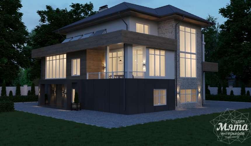 Дизайн фасада коттеджа в Шайдурово 5