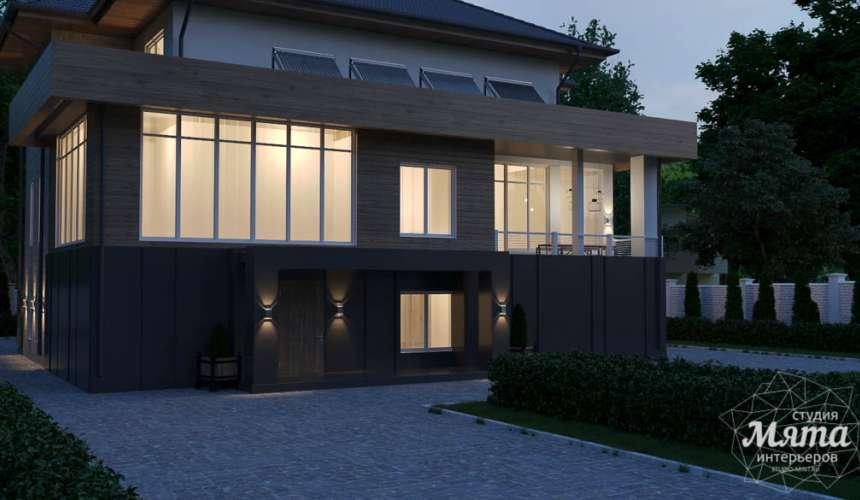 Дизайн фасада коттеджа в Шайдурово 6